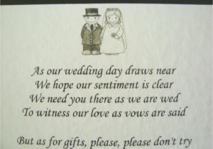 Wording for Wedding Invitations Money Instead Of Gifts Wedding Invitation Wording No Gifts Just Money Matik for
