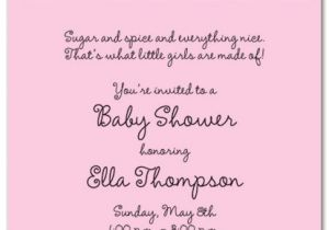 Words for A Baby Shower Invitation Baby Shower Invitation Wording for A Girl Cimvitation