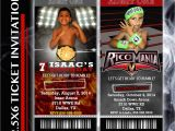 Wrestling Party Invitations Wrestling Party Ticket Invitation
