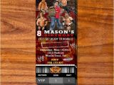 Wrestling Party Invitations Wrestling Party Ticket Invitation Wwe Party Party
