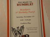 Wrestling Party Invitations Wrestling theme Invitation Wrestling theme events