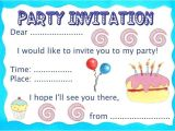 Write An Invitation to A Party Birthday Party Invitation Rooftop Post Printables