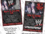 Wwe Birthday Invites U Print Wwe Birthday Invitations Party Supplies Available