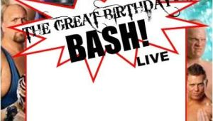 Wwe Birthday Invites Wwe Party Invitation Template Copy Paste and Edit On