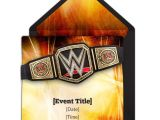 Wwe Birthday Party Invitations Free 25 Best Images About Wrestling theme Birthday On Pinterest