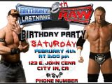 Wwe Birthday Party Invitations Free 40th Birthday Ideas Free Wwe Birthday Invitation Templates