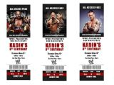 Wwe Birthday Party Invitations Free Printable Wwe Birthday Party Invitations Tickets by