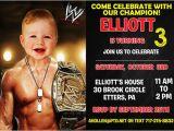 Wwe Birthday Party Invitations Free Wwe Birthday Invitation by Printable Birthday Invitations