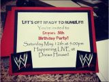 Wwe Birthday Party Invitations Wwe Birthday Party Invite My Babies I Love You and I