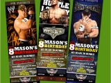 Wwe Birthday Party Invitations Wwe Wrestling Ticket Birthday Party Invitation Cena Raw Ebay