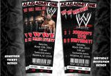 Wwe Birthday Party Invites 25 Best Ideas About Wrestling Party On Pinterest