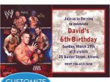 Wwe Birthday Party Invites Wwe Custom Invitation My Prince Evan Pinterest