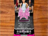 Wwe Birthday Party Invites Wwe Divas Ticket Invitation by Redvelvetparties On Etsy