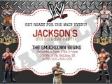 Wwe Birthday Party Invites Wwe Wrestling Birthday Invitation by Kaitlinskardsnmore On