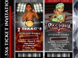 Wwe Wrestling Party Invitations Wrestling Party Ticket Invitation