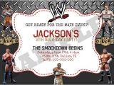 Wwe Wrestling Party Invitations Wwe Wrestling Birthday Invitation by Kaitlinskardsnmore On