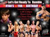 Wwe Wrestling Party Invitations Wwe Wrestling Birthday Invitation