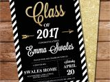 Www Graduation Invitations Graduation Invitation Black and Gold Graduation Invitation