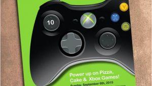 Xbox Party Invitation Template Xbox Birthday Party Invite Digital File 5 X 7 Inches