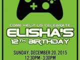 Xbox Party Invitations 5 X 7 Inch Birthday Invitation Personalized Xbox themed