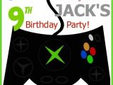 Xbox Party Invitations Xbox Birthday Party Invitation Jack Pinterest