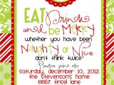 Xmas Party Invitation Template Custom Designed Christmas Party Invitations Eat Drink and