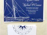 Yacht Wedding Invitation Wording Concertina Press Stationery and Invitations Yacht