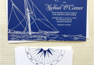 Yacht Wedding Invitation Wording Concertina Press Stationery and Invitations Yacht