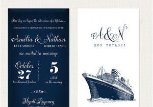 Yacht Wedding Invitation Wording Cruise Ship Yacht Wedding Invitation