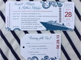 Yacht Wedding Invitation Wording Red Blue Swirl Yacht Cruise Boarding Pass Wedding
