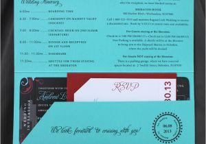 Yacht Wedding Invitation Wording Turquoise Red Black New York Swirls Yacht Cruise