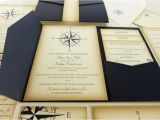 Yacht Wedding Invitation Wording Vintage Compass Wedding Invitation Navy Blue Nautical