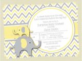 Yellow and Gray Elephant Baby Shower Invitations Yellow and Gray Elephant Baby Shower Invitation Yellow and