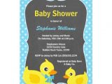 Yellow Duck Baby Shower Invitations Rubber Ducky Baby Shower Invitation Blue & Yellow