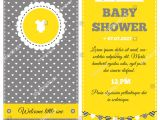 Yellow Gray Baby Shower Invitations Baby Shower Invitation Yellow White Gray Stock Vector