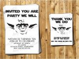 Yoda Birthday Invitations Yoda Birthday Invitations and Thank You Cards by