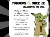Yoda Birthday Invitations Yoda Inspired Birthday Party Invitation by Freshlycutcards