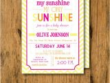 You are My Sunshine Baby Shower Invites Print Your Own You are My Sunshine Baby Shower Invitations