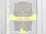 You are My Sunshine Baby Shower Invites You are My Sunshine Baby Shower Invitation Chevron