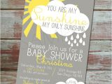 You are My Sunshine Baby Shower Invites You are My Sunshine Baby Shower Invitation Set