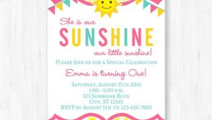 You are My Sunshine Party Invitation Template You are My Sunshine Invitation Printable by Thispartyofmine