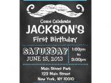 Zazzle 1st Birthday Invitations Chalkboard Mustache First Birthday Invitation 5 Quot X 7
