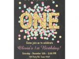 Zazzle 1st Birthday Invitations First Birthday Invitation Girl Pink Gold Mint Zazzle