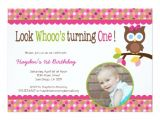Zazzle 1st Birthday Invitations Mod Owl 1st Birthday Invitation First Party Zazzle