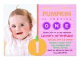 Zazzle 1st Birthday Invitations Pumpkin First Birthday Invitation Zazzle