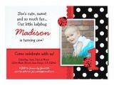 Zazzle 1st Birthday Invitations Red Ladybug 1st Birthday Invitations Zazzle