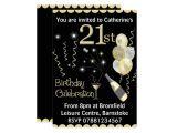 Zazzle 21st Birthday Invitations 21st Birthday Party Invitations Black & Gold
