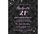 Zazzle 21st Birthday Invitations Sparkle Stars 21st Birthday Invitation
