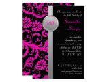 Zazzle 30th Birthday Invitations Pink Black and Silver 30th Birthday Invitation