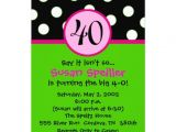 "Zazzle 40th Birthday Invitations 40th Birthday Invitation 5"" X 7"" Invitation Card"